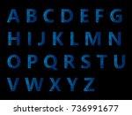 vector alphabet set geometric... | Shutterstock .eps vector #736991677