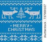 christmas jumper knitted...   Shutterstock .eps vector #737000107
