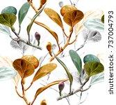 illustration of leaf on white... | Shutterstock . vector #737004793