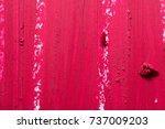 red lipstick smudged texture... | Shutterstock . vector #737009203