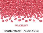 vector 3d social network like... | Shutterstock .eps vector #737016913