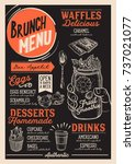 brunch food menu for restaurant ... | Shutterstock .eps vector #737021077