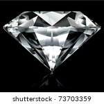Realistic Diamond Illustratio...