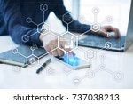 industry 4.0 concept  smart... | Shutterstock . vector #737038213