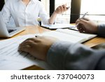 business audits calculating... | Shutterstock . vector #737040073