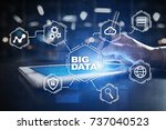 big data technology and... | Shutterstock . vector #737040523