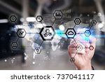 iot  automation  industry 4.0.... | Shutterstock . vector #737041117