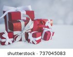 Christmas Gifts Background Wit...