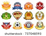 sport game team logo play... | Shutterstock .eps vector #737048593