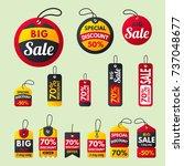 super sale extra bonus red... | Shutterstock .eps vector #737048677