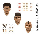 man face emotions constructor... | Shutterstock .eps vector #737049373
