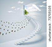 virtual three dimensional... | Shutterstock . vector #73705105