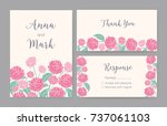 collection of elegant templates ... | Shutterstock .eps vector #737061103
