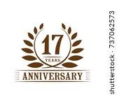 17 years anniversary logo... | Shutterstock .eps vector #737062573