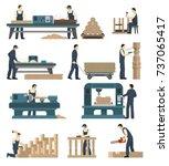 carpentry factory set of...   Shutterstock .eps vector #737065417