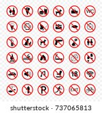 set of prohibition signs.... | Shutterstock .eps vector #737065813
