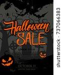 halloween sale special offer... | Shutterstock .eps vector #737066383