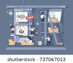 team work on design and... | Shutterstock .eps vector #737067013