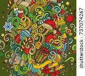 cartoon cute doodles hand drawn ... | Shutterstock .eps vector #737074267