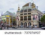 paris  france   september 2 ... | Shutterstock . vector #737076937