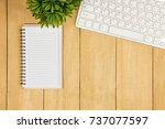 copy space empty book and...   Shutterstock . vector #737077597