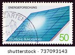 germany   circa 1981  a stamp... | Shutterstock . vector #737093143