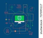 computer viruses  digital... | Shutterstock .eps vector #737095117