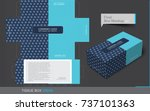 tissue box template concept ... | Shutterstock .eps vector #737101363