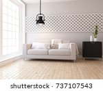 white scandinavian room... | Shutterstock . vector #737107543