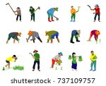 many farmer shape vector design | Shutterstock .eps vector #737109757
