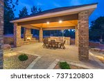 outdoor living space and patio | Shutterstock . vector #737120803