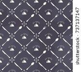 bon appetite seamless pattern | Shutterstock .eps vector #737137147