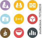 origami corner style icon set   ... | Shutterstock .eps vector #737138233