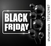 trendy black friday banner with ... | Shutterstock .eps vector #737152987