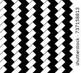 white diagonal dashes on black... | Shutterstock .eps vector #737158813