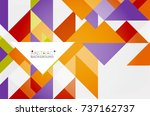 triangle pattern design... | Shutterstock .eps vector #737162737