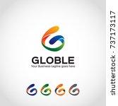 g letter logo template | Shutterstock .eps vector #737173117