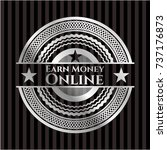 earn money online silver badge... | Shutterstock .eps vector #737176873