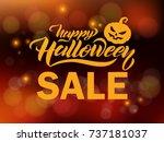 halloween sale vector banner... | Shutterstock .eps vector #737181037