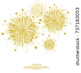 vector firework design on white ... | Shutterstock .eps vector #737183053
