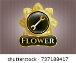 shiny badge with wrench icon... | Shutterstock .eps vector #737188417