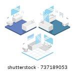 isometric flat 3d concept... | Shutterstock .eps vector #737189053