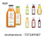 fresh juice vector packaging... | Shutterstock .eps vector #737189587