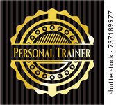 personal trainer gold badge or... | Shutterstock .eps vector #737189977