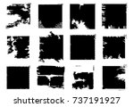stamps collection. grunge... | Shutterstock .eps vector #737191927