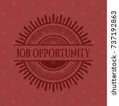 job opportunity badge with red... | Shutterstock .eps vector #737192863