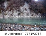 Mountain River Flows Through...