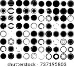 grunge post stamps collection ... | Shutterstock .eps vector #737195803