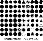 grunge post stamps collection ... | Shutterstock .eps vector #737195827