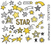pack of stars | Shutterstock .eps vector #737197723
